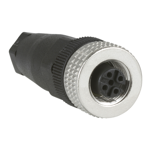 Mayer-Female, M12, 4 pin, straight connector, cable gland Pg 7-1