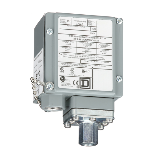 Mayer-industrial pressure switch, 9012G, adjustable scale, 2 thresholds, 3.0 to 150 psig-1