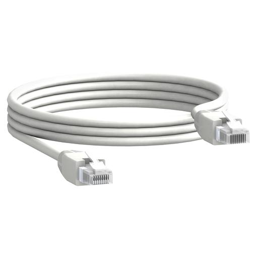 Mayer-communication cable, 2 x RJ45 male connectors, 0.3 m length, set of 10 parts-1