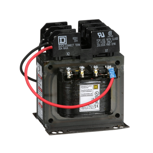 Mayer-Transformer, Type TF, industrial control, 150 VA, 208/230/460 VAC pri / 115 VAC second, 1 phase, 50/60 Hz, 55 °C rise-1