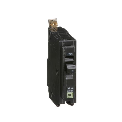 Mayer-Mini circuit breaker, QO, 15A, 1 pole, 120/240 VAC, 10 kA, bolt on mount-1