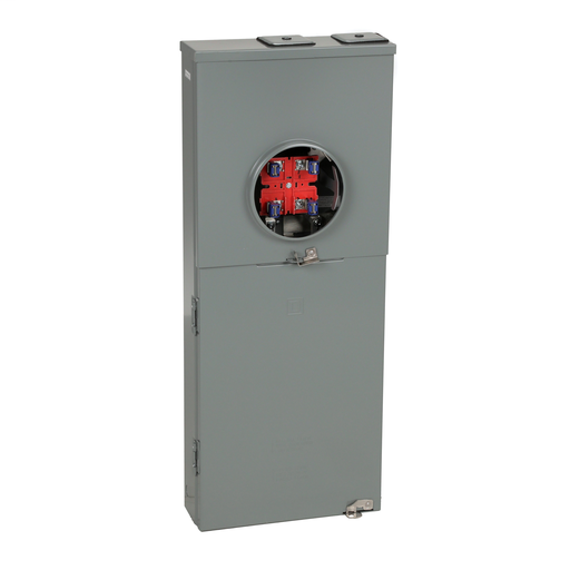 Mayer-Meter mains, Homeline, combination service entrance, ringless socket, 150A, surface mount, maximum 8 spaces, 16 circuits, no bypass-1