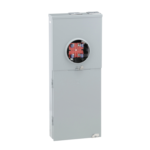 Mayer-Meter mains, Homeline, combination service entrance, ringless socket, 200A, surface mount, maximum 8 spaces, 16 circuits, no bypass-1