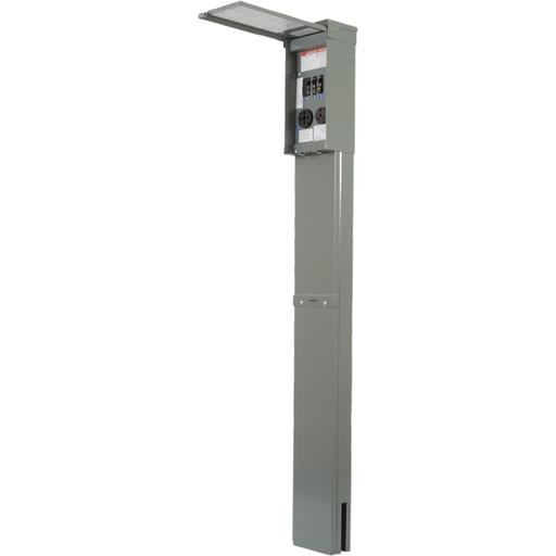 Mayer-Panel, power outlet, recreational vehicle,configuration 14C, 1 phase, 3 wire, 120/240 VAC, 100A, NEMA 3R, pedestal-1