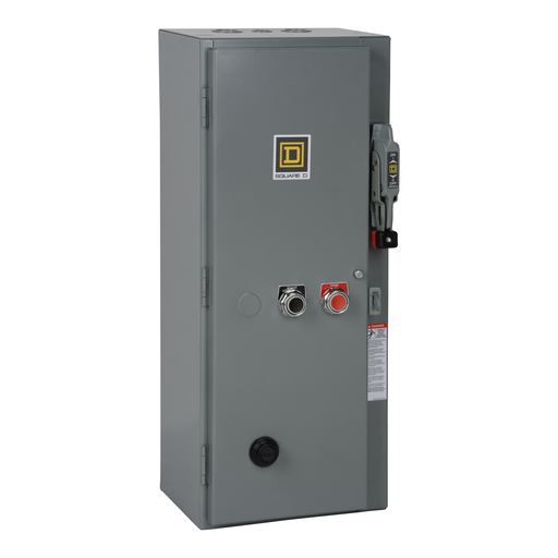 Mayer-Combination Starter, Type S, fusible disconnect, Size 2, 45A, 3 pole, 120 VAC coil, melting alloy overload, NEMA 1-1