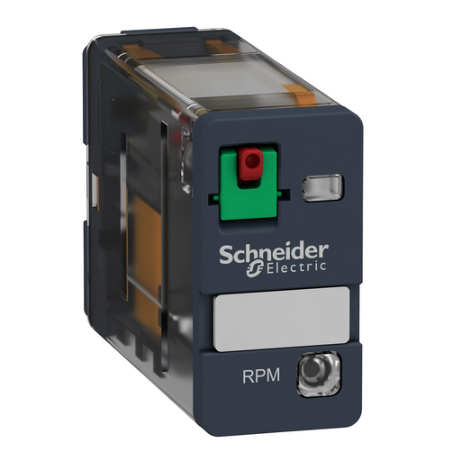 Mayer-Harmony, Power plug-in relay, 15 A, 1 CO, with LED, with lockable test button, 120 V AC-1