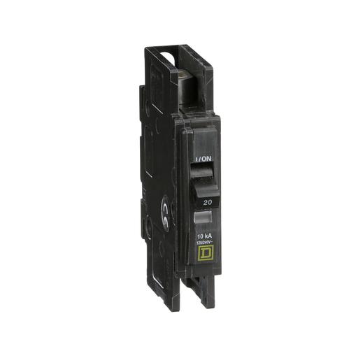 Mayer-Mini circuit breaker, QOU, 20A, 1 pole, 120/240 VAC, 10kA, field reversible lugs-1