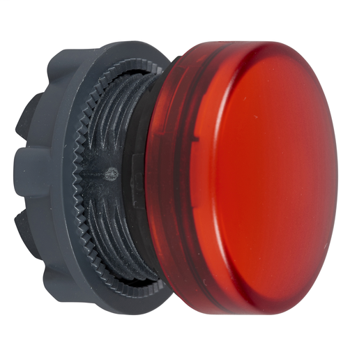 Mayer-Harmony XB5, Pilot light head, metal, red, Ø22, plain lens for integral LED-1