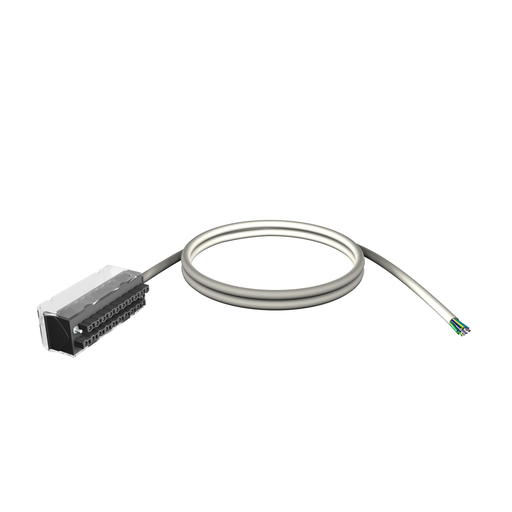Mayer-shielded cord set - 20-way terminal - one end flying leads - for X80 I/O - 3 m-1