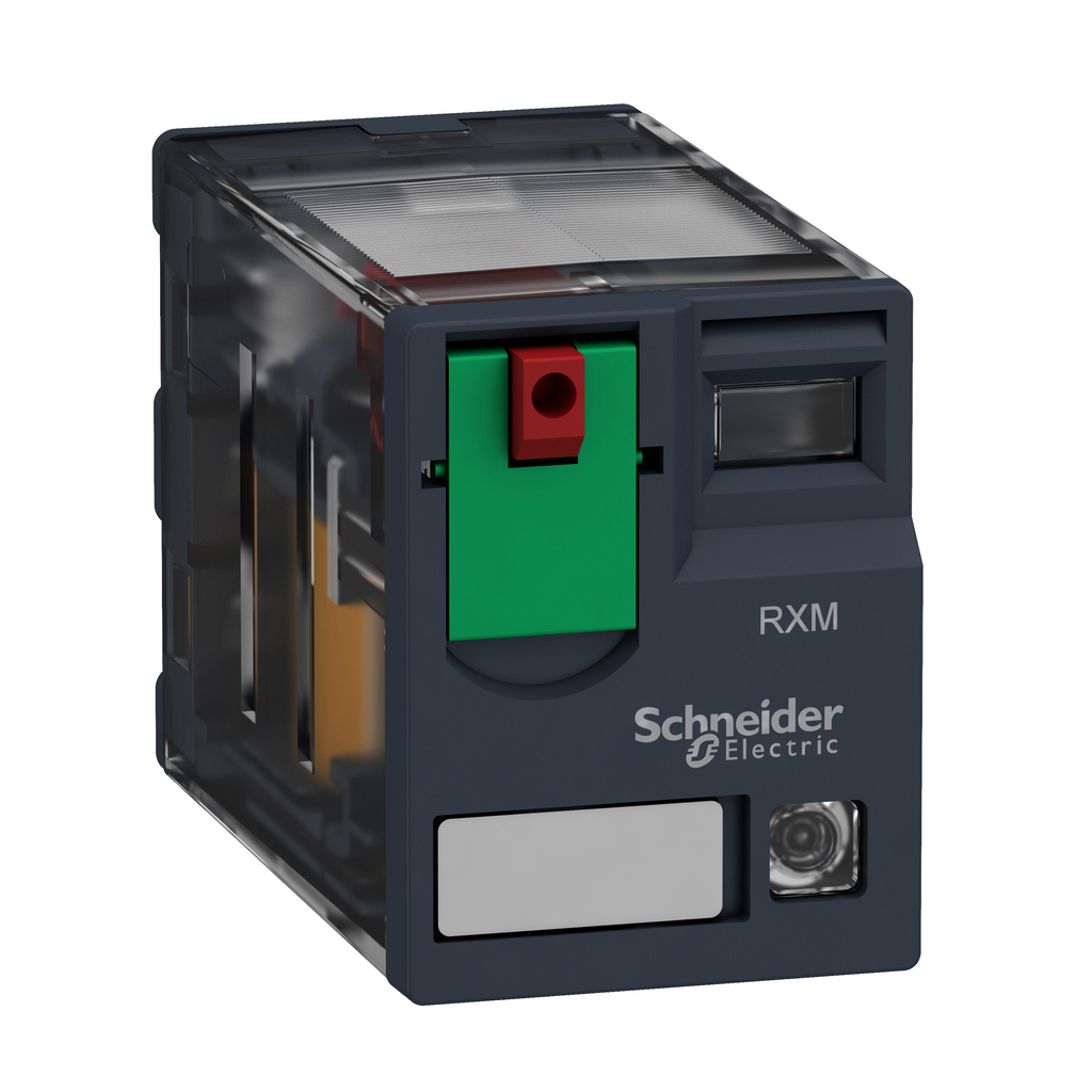 Mayer-Harmony, Miniature plug-in relay, 10 A, 3 CO, with LED, with lockable test button, 24 V AC-1