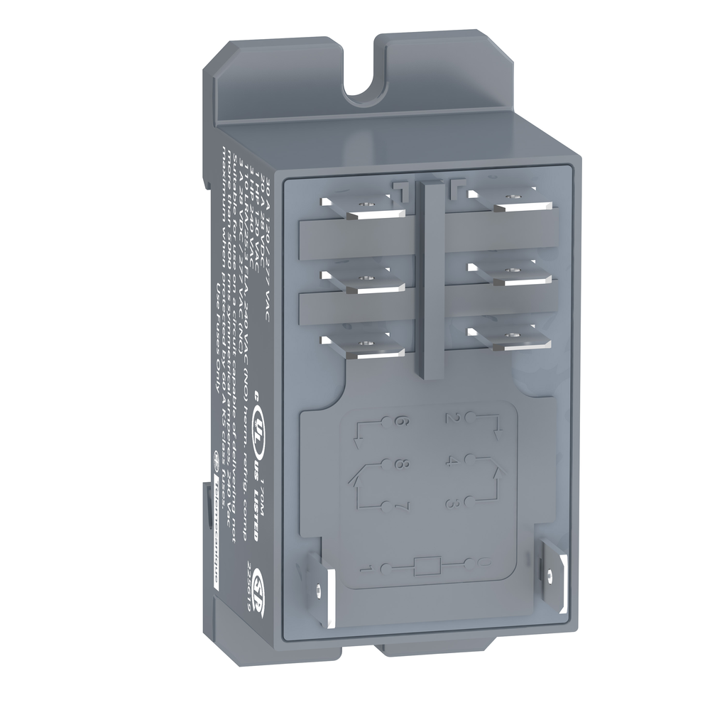 Mayer-Harmony, Power relay, DIN rail/panel mount relay, 30 A, 2 CO, 120 V AC-1