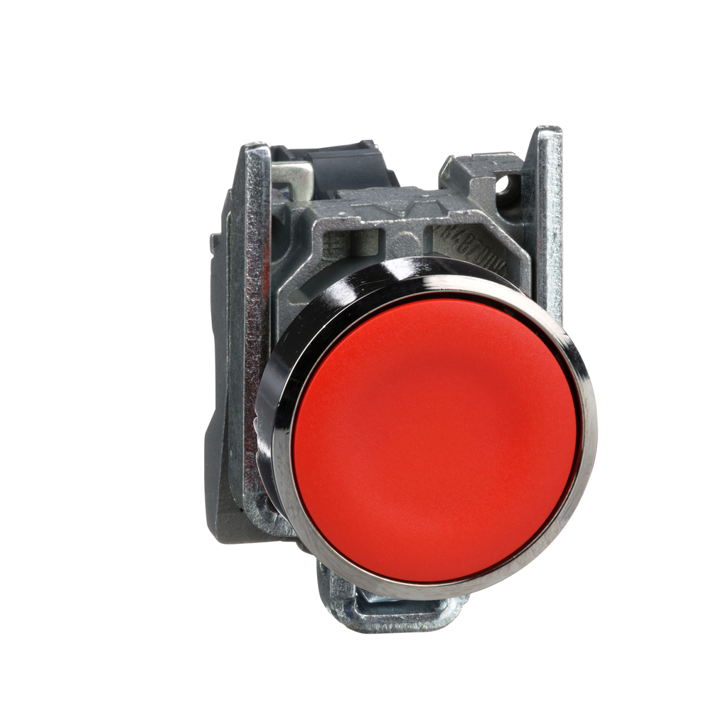 Mayer-Harmony, 22mm push button, red flush, spring return, 1 NO, unmarked-1