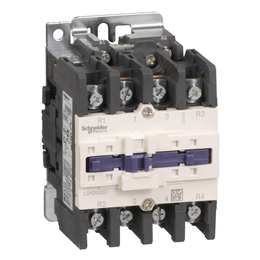 Mayer-IEC contactor, TeSys D, nonreversing, 125A resistive, 4 pole, 4 NO, 220VAC 50/60Hz coil, open style-1