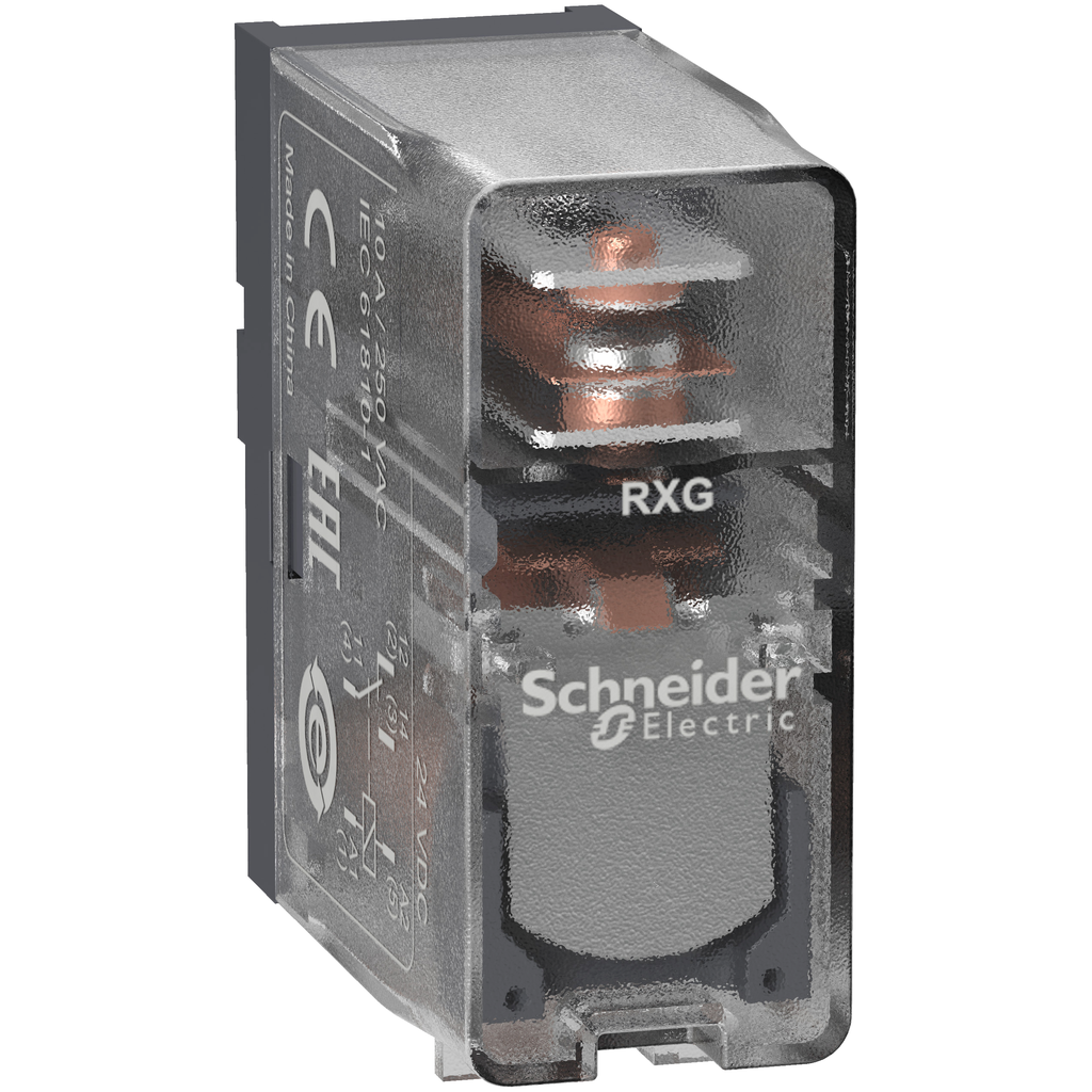 Mayer-Harmony, Interface plug-in relay, 10 A, 1 CO, clear cover, 24 V DC-1