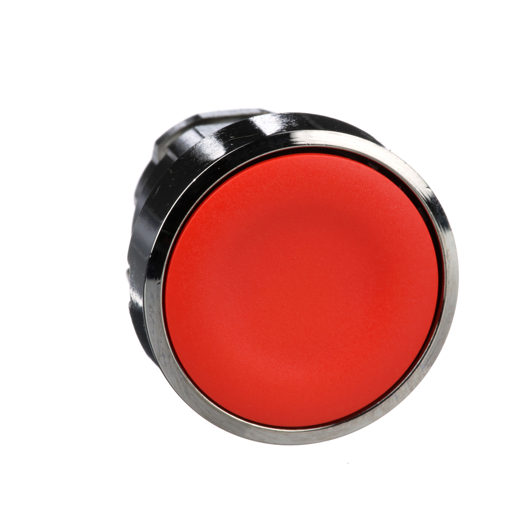 Mayer-Harmony, 22mm Push Button, flush push button head, spring return, red, unmarked-1