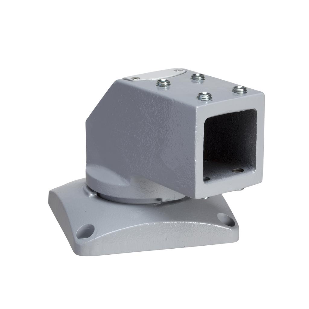 Mayer-Horizontal rotating bracket, square 50 mm RAL 7040. For S3CM HMI encl.-1