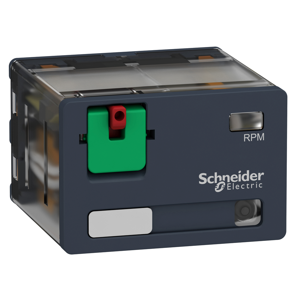 Mayer-Harmony, Power plug-in relay, 15 A, 4 CO, with LED, with lockable test button, 230 V AC-1