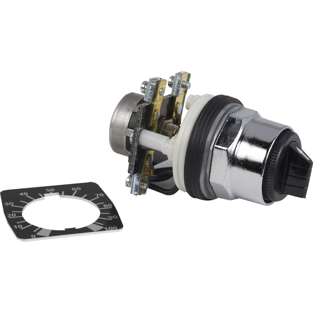 Mayer-head Ø30 + mounting base + potentiometer 500 Ohm 2W-1