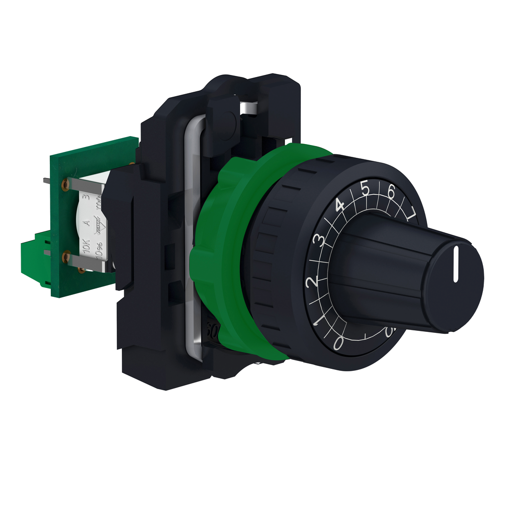 Mayer-Harmony XB5, Complete potentiometer, plastic, Ø22, 4K7-1
