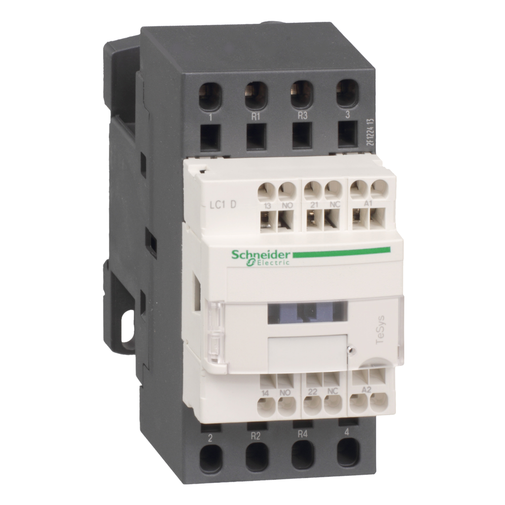 Mayer-IEC contactor, TeSys D, nonreversing, 40A resistive, 4 pole, 2 NO and 2 NC, 48VAC 50/60Hz coil, open style-1