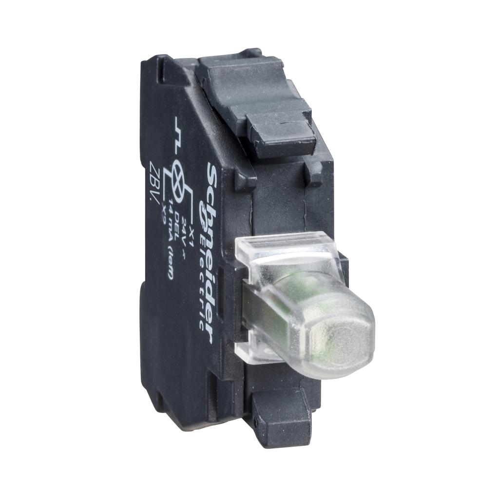 Mayer-Harmony XB4, Light block for head Ø22, blue, integral LED, screw clamp terminal, 24…120 V AC/DC-1
