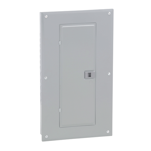 Mayer-Load center, Homeline, 1 phase, 24 spaces, 48 circuits, 125A convertible main breaker, PoN, NEMA1, combo cover-1