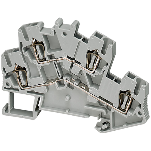 Mayer-SPRING TERMINAL, DOUBLE LEVEL, 4 POINTS, 2,5MM², GREY-1