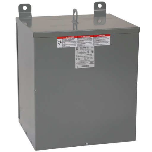 Mayer-LowVoltage Transformer, Resin filled, 1 phase, 15kVA, 240 x 480 primary/240/120V secondary, 115°C rise-1