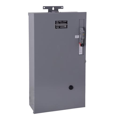 Mayer-Pump Panel, NEMA Type S, Well Guard, oil field, Size 1, 27A, 10 HP, 30A fusible disconnect, melting alloy overload, 110/120 VAC 50/60 Hz coil, NEMA 3R-1