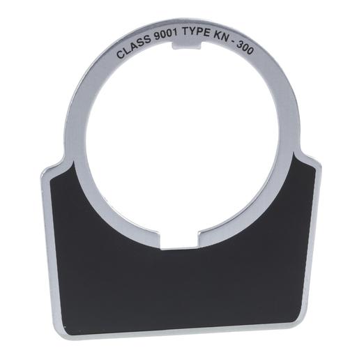 Mayer-30mm Push Button, Type K, aluminum legend plate, black, blank-1