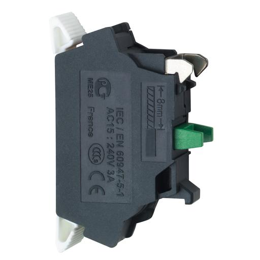 Mayer-Harmony XB4, Single contact block, silver alloy, spring clamp terminal, 1 NO-1