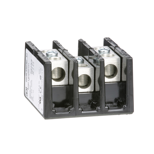 Mayer-Power Distribution Block, 3 pole, 1 line, 1 load, 175 A 600 V CU / 135 A 600 V AL-1