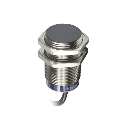 Mayer-inductive sensor, XS6, M30, L62 mm, brass, sensing 15 mm, 24 to 240 VAC/DC, 2 meter cable-1