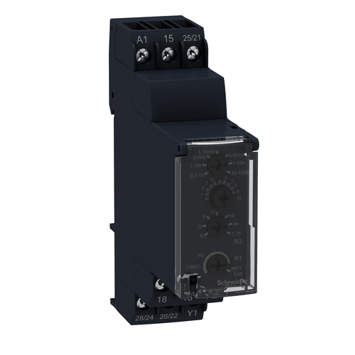 Mayer-Harmony, Modular timing relay, 8 A, 2 CO, 0.1 s…100 h, multifunction, 12..240 V AC/DC-1