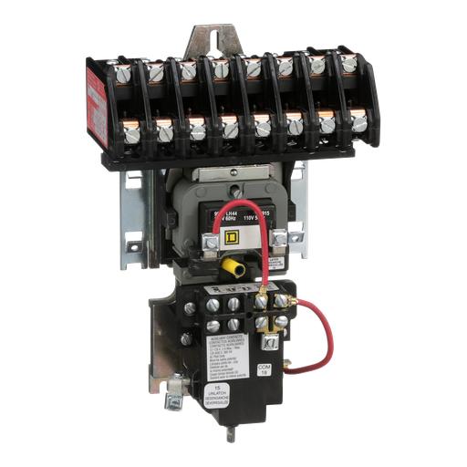 Mayer-8903LX mechanically held lighting contactor, 8 P, 8 NO, 30 A, 600 V, 110/120 V 50/60 Hz coil, open-1