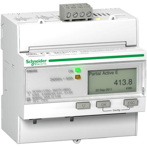 Mayer-iEM3455 energy meter - Modbus - 1 DI - 1 DO - multi-tariff - LVCT-1
