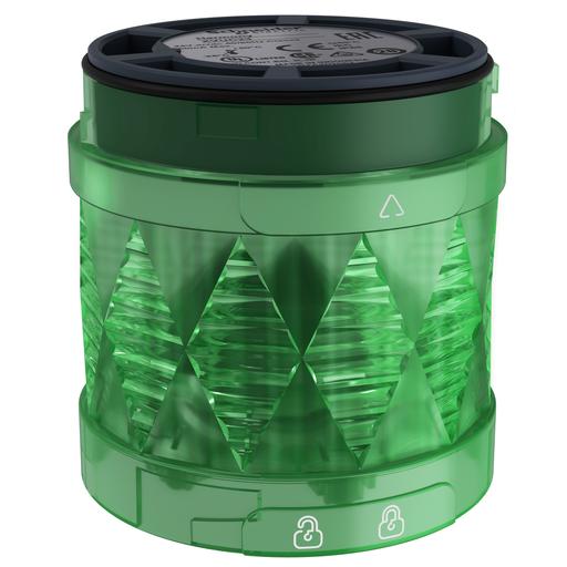 Mayer-Harmony XVU, Illuminated LED unit for modular tower lights, green, Ø60, steady, IP65, 24 V AC/DC-1