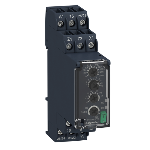 Mayer-Harmony, Modular timing relay, 8 A, 2 CO, 0.05 s…300 h, multifunction, 24...240 V AC/DC-1
