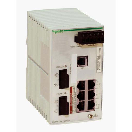 Mayer-ConneXium Basic Managed Switch - 6 ports for copper + 2 ports for fiber optic multimode-1