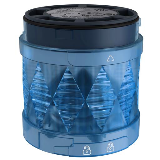 Mayer-Harmony XVU, Illuminated LED unit for modular tower lights, blue, Ø60, steady, IP65, 24 V AC/DC-1
