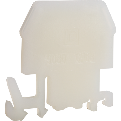 Mayer-Terminal Block End Barrier, Natural Color, For 9080GM6 and 9080GR6 terminal blocks-1
