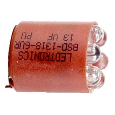 Mayer-30mm push button, Type K, amber super bright LED bulb, BA9 base, marked BSD 1318 6UY-1