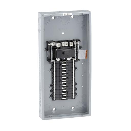 Mayer-Load center, QO, 1 phase, 30 spaces, 30 circuits, 200A convertible main breaker, NEMA1, UL-1