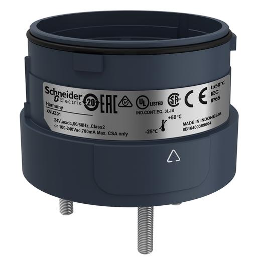 Mayer-Harmony XVU, Fixing unit for modular tower lights, black, Ø60, 3 pins direct mounting-1