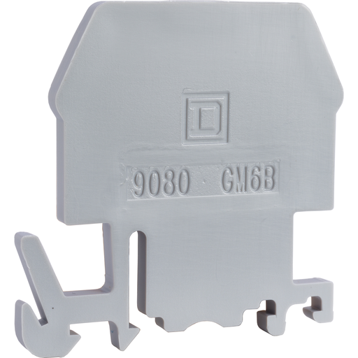 Mayer-Terminal block, Linergy, end barrier, grey color, for 9080GM6 or 9080GR6 terminal block-1
