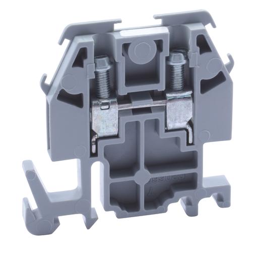 Mayer-Terminal block, Linergy, box lug connector, grey colored block, 30A, 600 V-1