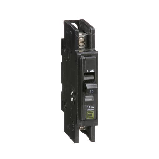 Mayer-Mini circuit breaker, QOU, 15A, 1 pole, 120/240 VAC, 10kA, bulk pack-1