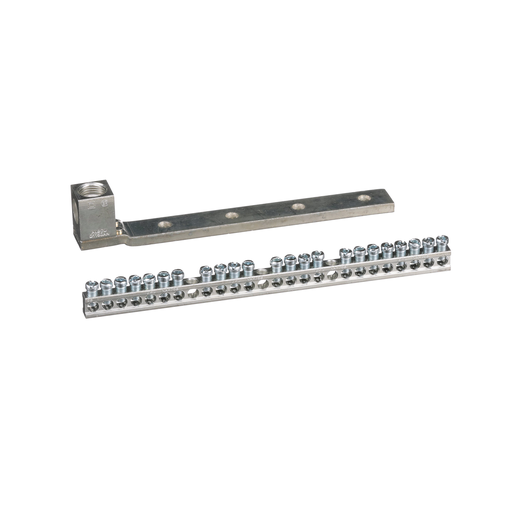 Mayer-Load center accessory, QO/Homeline, ground bar kit, 23 terminals, with AWG 1-4/0 lug in aluminum or copper-1