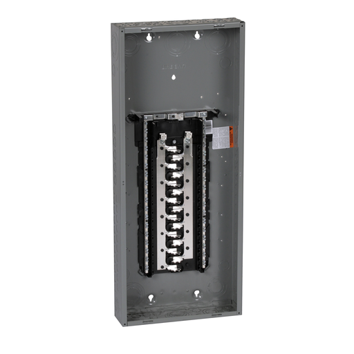 Mayer-Load center, Homeline, 1 phase, 30 spaces, 60 circuits, 125A convertible main lugs, PoN, NEMA1, combo cover-1