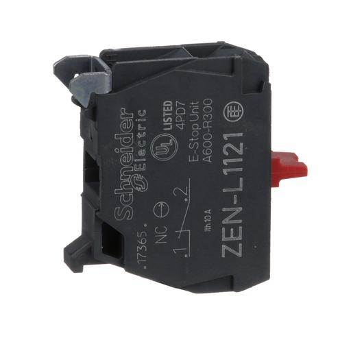 Mayer-Harmony, 22mm Push Button, contact block, panel mount, 1 NC, screw clamp terminal-1